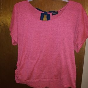 Sweaters - Cute Hot Pink & Navy Blue Heathers Sweater